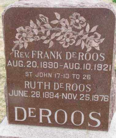 DE ROOS, FRANK (REV) - Bon Homme County, South Dakota | FRANK (REV) DE ROOS - South Dakota Gravestone Photos