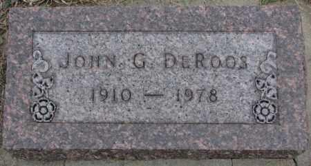 DE ROOS, JOHN G. - Bon Homme County, South Dakota | JOHN G. DE ROOS - South Dakota Gravestone Photos