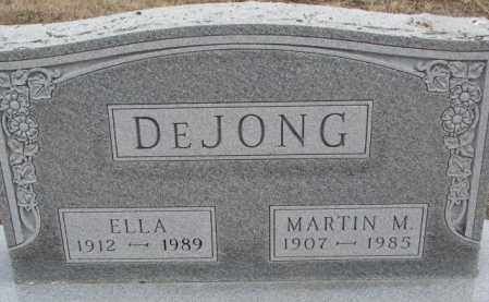 DEJONG, ELLA - Bon Homme County, South Dakota | ELLA DEJONG - South Dakota Gravestone Photos