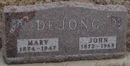 DEJONG, JOHN - Bon Homme County, South Dakota | JOHN DEJONG - South Dakota Gravestone Photos