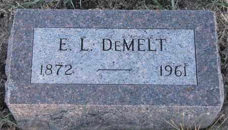 DEMELT, E.L. - Bon Homme County, South Dakota   E.L. DEMELT - South Dakota Gravestone Photos