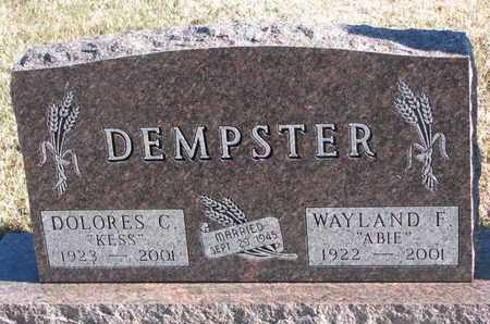 DEMPSTER, WAYLAND F. - Bon Homme County, South Dakota   WAYLAND F. DEMPSTER - South Dakota Gravestone Photos