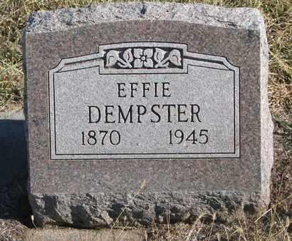 DEMPSTER, EFFIE - Bon Homme County, South Dakota   EFFIE DEMPSTER - South Dakota Gravestone Photos