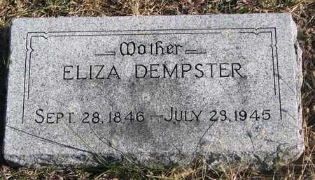 DEMPSTER, ELIZA - Bon Homme County, South Dakota   ELIZA DEMPSTER - South Dakota Gravestone Photos