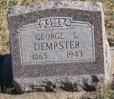 DEMPSTER, GEORGE S. - Bon Homme County, South Dakota | GEORGE S. DEMPSTER - South Dakota Gravestone Photos