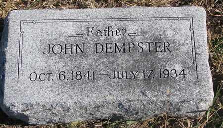 DEMPSTER, JOHN - Bon Homme County, South Dakota   JOHN DEMPSTER - South Dakota Gravestone Photos
