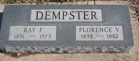 DEMPSTER, FLORENCE V. - Bon Homme County, South Dakota | FLORENCE V. DEMPSTER - South Dakota Gravestone Photos
