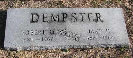 DEMPSTER, ROBERT M. - Bon Homme County, South Dakota   ROBERT M. DEMPSTER - South Dakota Gravestone Photos
