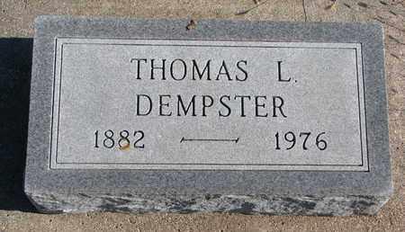 DEMPSTER, THOMAS L. - Bon Homme County, South Dakota | THOMAS L. DEMPSTER - South Dakota Gravestone Photos