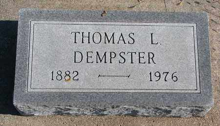 DEMPSTER, THOMAS L. - Bon Homme County, South Dakota   THOMAS L. DEMPSTER - South Dakota Gravestone Photos