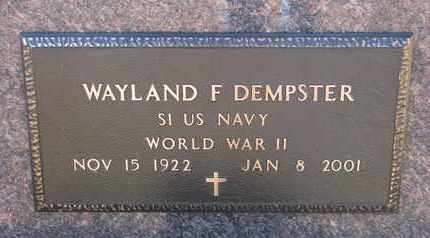 DEMPSTER, WAYLAND F. (WW II) - Bon Homme County, South Dakota | WAYLAND F. (WW II) DEMPSTER - South Dakota Gravestone Photos