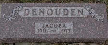 DENOUDEN, JACOBA - Bon Homme County, South Dakota | JACOBA DENOUDEN - South Dakota Gravestone Photos