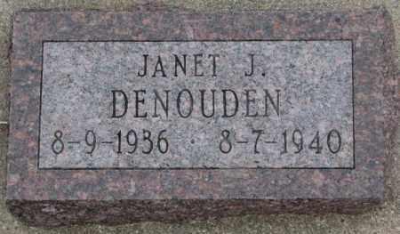 DENOUDEN, JANET J. - Bon Homme County, South Dakota | JANET J. DENOUDEN - South Dakota Gravestone Photos