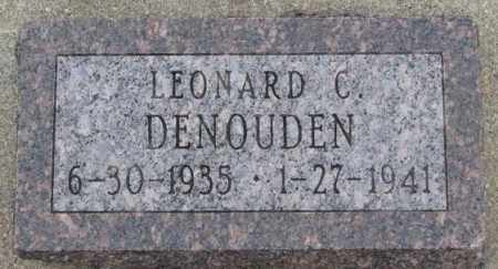 DENOUDEN, LEONARD C. - Bon Homme County, South Dakota | LEONARD C. DENOUDEN - South Dakota Gravestone Photos