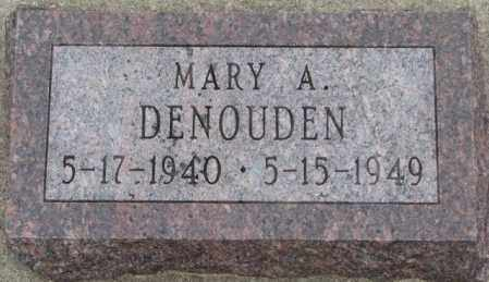 DENOUDEN, MARY A. - Bon Homme County, South Dakota | MARY A. DENOUDEN - South Dakota Gravestone Photos