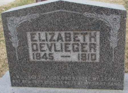 DEVLIEGER, ELIZABETH - Bon Homme County, South Dakota | ELIZABETH DEVLIEGER - South Dakota Gravestone Photos