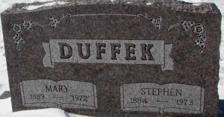 DUFFEK, MARY - Bon Homme County, South Dakota | MARY DUFFEK - South Dakota Gravestone Photos