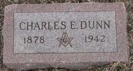 DUNN, CHARLES E. - Bon Homme County, South Dakota   CHARLES E. DUNN - South Dakota Gravestone Photos