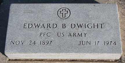DWIGHT, EDWARD B. - Bon Homme County, South Dakota | EDWARD B. DWIGHT - South Dakota Gravestone Photos
