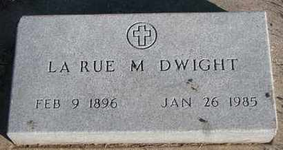 DWIGHT, LA RUE M. - Bon Homme County, South Dakota | LA RUE M. DWIGHT - South Dakota Gravestone Photos