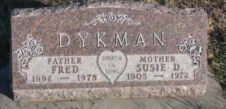DYKMAN, SUSIE D. - Bon Homme County, South Dakota | SUSIE D. DYKMAN - South Dakota Gravestone Photos