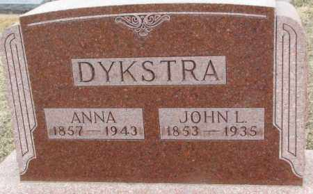 DYKSTRA, ANNA - Bon Homme County, South Dakota | ANNA DYKSTRA - South Dakota Gravestone Photos