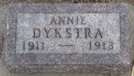 DYKSTRA, ANNIE - Bon Homme County, South Dakota | ANNIE DYKSTRA - South Dakota Gravestone Photos