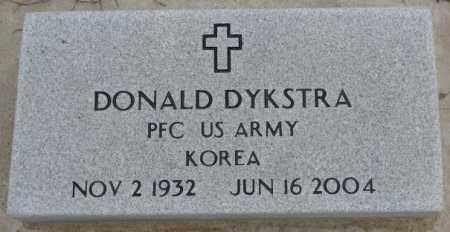 DYKSTRA, DONALD (MILITARY) - Bon Homme County, South Dakota | DONALD (MILITARY) DYKSTRA - South Dakota Gravestone Photos