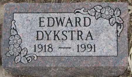 DYKSTRA, EDWARD - Bon Homme County, South Dakota | EDWARD DYKSTRA - South Dakota Gravestone Photos