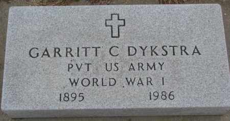 DYKSTRA, GARRITT C. ( WW I) - Bon Homme County, South Dakota | GARRITT C. ( WW I) DYKSTRA - South Dakota Gravestone Photos