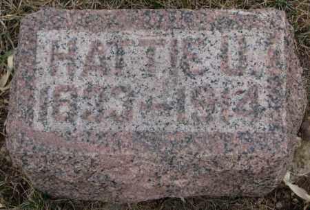 DYKSTRA, HATTIE U. - Bon Homme County, South Dakota   HATTIE U. DYKSTRA - South Dakota Gravestone Photos