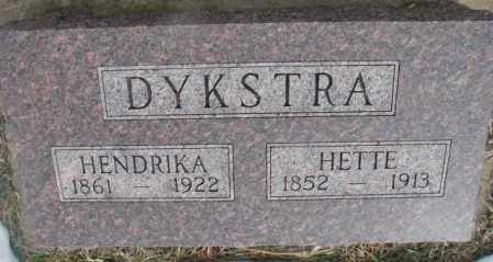 DYKSTRA, HENDRIKA - Bon Homme County, South Dakota | HENDRIKA DYKSTRA - South Dakota Gravestone Photos
