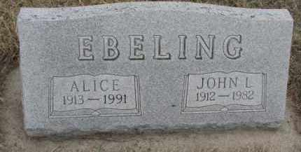 EBELING, ALICE - Bon Homme County, South Dakota | ALICE EBELING - South Dakota Gravestone Photos