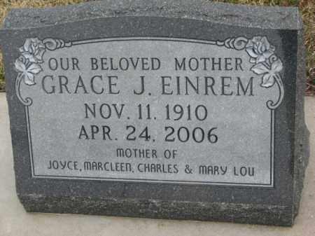 EINREM, GRACE J. - Bon Homme County, South Dakota   GRACE J. EINREM - South Dakota Gravestone Photos
