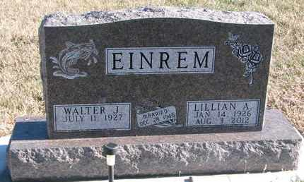 EINREM, LILLIAN A. - Bon Homme County, South Dakota | LILLIAN A. EINREM - South Dakota Gravestone Photos
