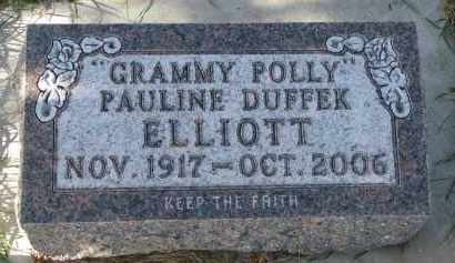 DUFFEK ELLIOTT, PAULINE - Bon Homme County, South Dakota | PAULINE DUFFEK ELLIOTT - South Dakota Gravestone Photos