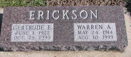 ERICKSON, GERTRUDE E. - Bon Homme County, South Dakota | GERTRUDE E. ERICKSON - South Dakota Gravestone Photos