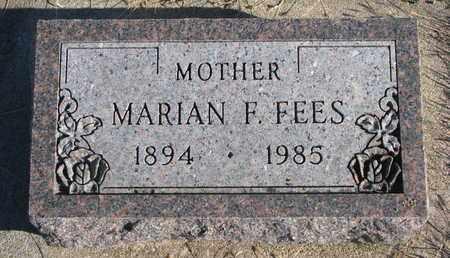 FEES, MARIAN F. - Bon Homme County, South Dakota   MARIAN F. FEES - South Dakota Gravestone Photos