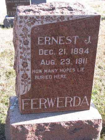 FERWERDA, ERNEST J. - Bon Homme County, South Dakota | ERNEST J. FERWERDA - South Dakota Gravestone Photos