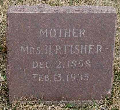 FISHER, MRS. H.P. - Bon Homme County, South Dakota | MRS. H.P. FISHER - South Dakota Gravestone Photos