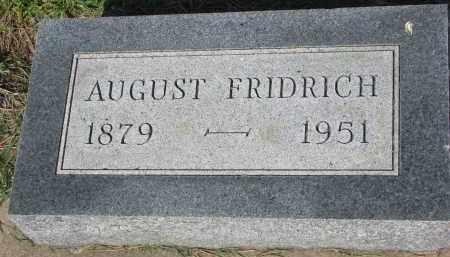 FRIDRICH, AUGUST - Bon Homme County, South Dakota | AUGUST FRIDRICH - South Dakota Gravestone Photos