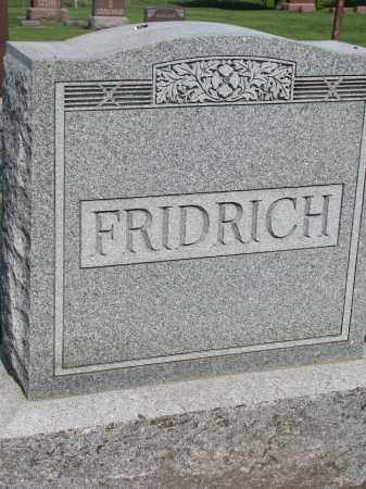 FRIDRICH, FAMILY STONE - Bon Homme County, South Dakota   FAMILY STONE FRIDRICH - South Dakota Gravestone Photos