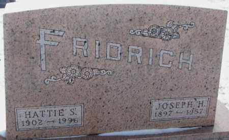 FRIDRICH, JOSEPH H. - Bon Homme County, South Dakota | JOSEPH H. FRIDRICH - South Dakota Gravestone Photos