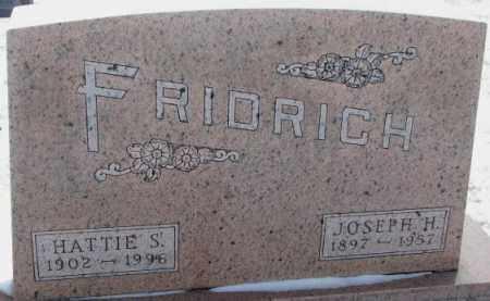 FRIDRICH, HATTIE S. - Bon Homme County, South Dakota | HATTIE S. FRIDRICH - South Dakota Gravestone Photos