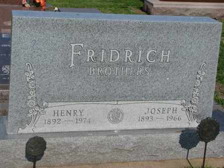 FRIDRICH, JOSEPH - Bon Homme County, South Dakota   JOSEPH FRIDRICH - South Dakota Gravestone Photos