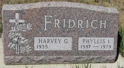 FRIDRICH, PHYLLIS I. - Bon Homme County, South Dakota | PHYLLIS I. FRIDRICH - South Dakota Gravestone Photos