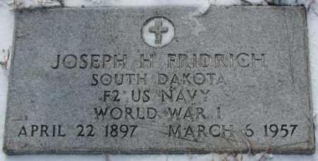 FRIDRICH, JOSEPH H. (WW I) - Bon Homme County, South Dakota | JOSEPH H. (WW I) FRIDRICH - South Dakota Gravestone Photos