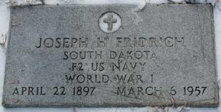 FRIDRICH, JOSEPH H. (WW I) - Bon Homme County, South Dakota | JOSEPH H. (WW I) FRIDRICH - South Dakota Gravestone Photos