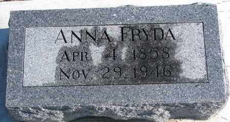 FRYDA, ANNA - Bon Homme County, South Dakota | ANNA FRYDA - South Dakota Gravestone Photos