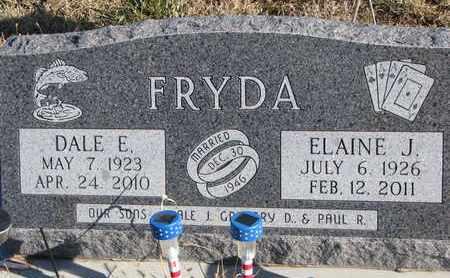 FRYDA, ELAINE J. - Bon Homme County, South Dakota | ELAINE J. FRYDA - South Dakota Gravestone Photos